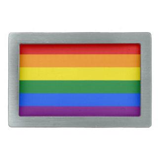 Fivelas de cinto da bandeira do arco-íris para ele