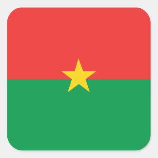 flag_burkina_farso adesivo quadrado