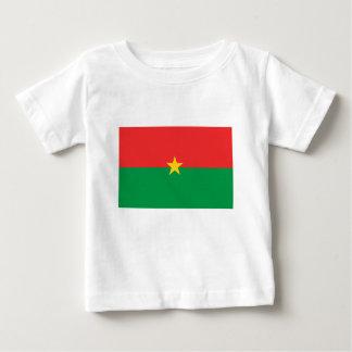 flag_burkina_farso camiseta para bebê