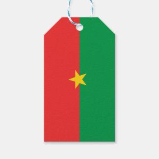 flag_burkina_farso etiqueta para presente