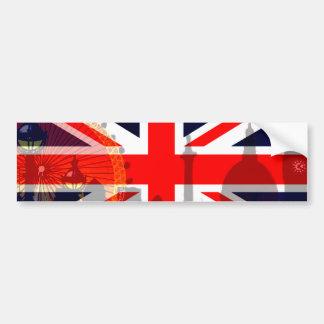 Flag_ Londres-Britânico Adesivos