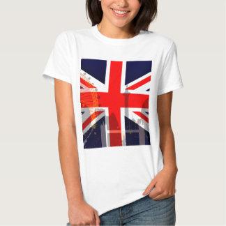 Flag_ Londres-Britânico Tshirts