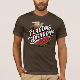 Flagons e logotipo do Podcast Est.2010 dos dragões Camiseta