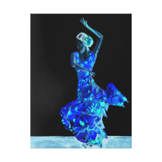 Flamenco. escuro impressão em canvas