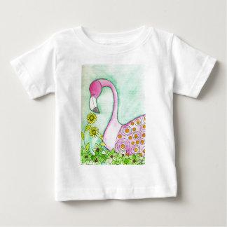 Flamingo cor-de-rosa camiseta para bebê