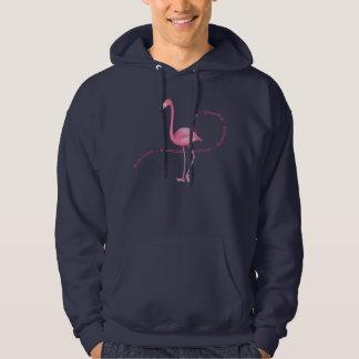 Flamingo cor-de-rosa do país das maravilhas moletom com capuz