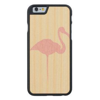 Flamingo cor-de-rosa no fundo alinhado amarelo