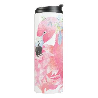 Flamingo cor-de-rosa Tumbler térmico personalizado