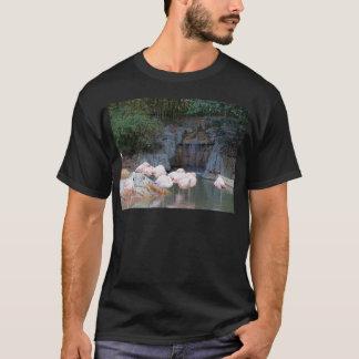 Flamingo e cachoeira camisetas