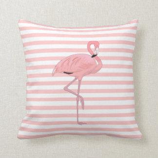 Flamingo e travesseiro decorativo cor-de-rosa das almofada