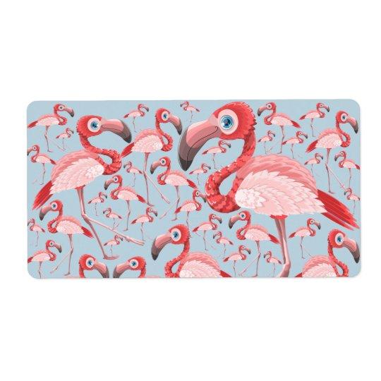 Flamingo Etiqueta De Frete