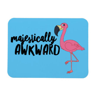 """Flamingo majestosa inábil 3"""""""" ímã da foto x4"""