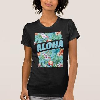 Flamingo selvagem da praia de Wellcoda Aloha Havaí Camiseta