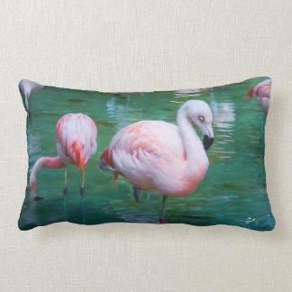 Flamingos cor-de-rosa almofada lombar