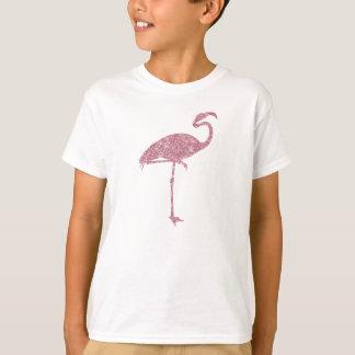 Flamingos cor-de-rosa do brilho do falso do camisetas