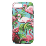 Flamingos cor-de-rosa retros legal capa iPhone 7