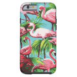 Flamingos cor-de-rosa retros legal capa tough para iPhone 6