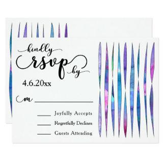 Flâmulas coloridas da aguarela, RSVP Wedding Convite 8.89 X 12.7cm