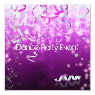 Flâmulas do evento do dance party convite personalizado
