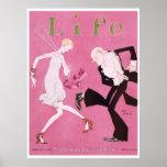 Flapper 1926 da capa de revista da vida poster