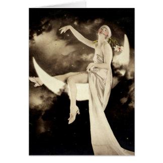 Flapper Loving da vida no cartão com fotos do