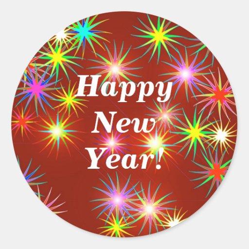 Flash do ano novo adesivos em formato redondos