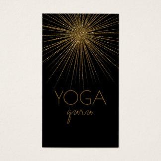Flash do cartão de visita preto de Guru da ioga