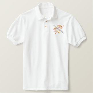Flauta Camiseta Bordada Polo
