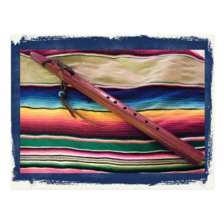 Flauta e cartão nativos de Serape