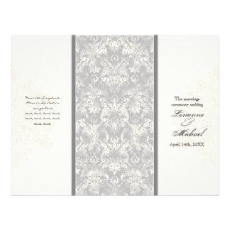 Fleur di Lys Damasco - programa formal cinzento do Flyer 21.59 X 27.94cm