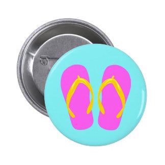 Flip-flop cor-de-rosa botons