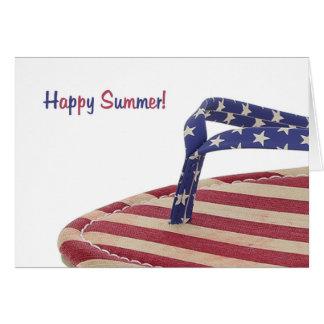 Flip-flop patriótico cartão comemorativo