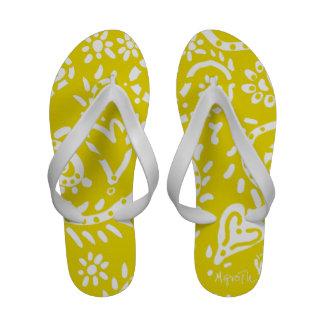 Flip-flops amarelos da semente