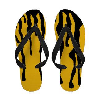 flip-flops amarelos e pretos abstratos do gotejame