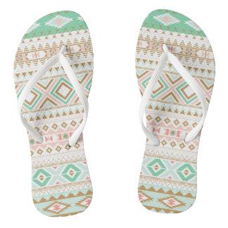 Flip-flops asiáticos do motivo - Juda Schrader Chinelos