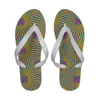 Flip-flops coloridos do Sunburst