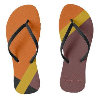 Flip-flops coloridos outono chinelos