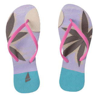 Flip-flops com um design da palma chinelos