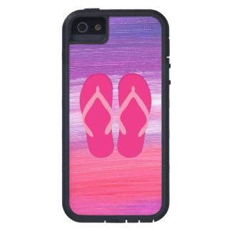 Flip-flops cor-de-rosa capas para iPhone 5