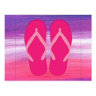 Flip-flops cor-de-rosa cartão postal