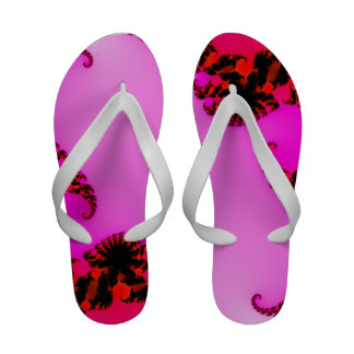 Flip-flops cor-de-rosa do fractal