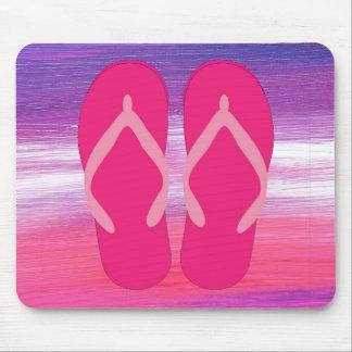 Flip-flops cor-de-rosa mouse pad