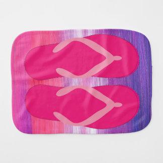 Flip-flops cor-de-rosa paninho para bebês