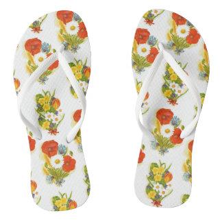 Flip-flops da flor chinelos