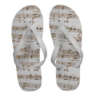 Flip-flops da folha de música para homens e mulher