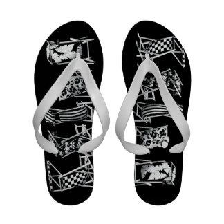 Flip-flops das cadeiras de praia