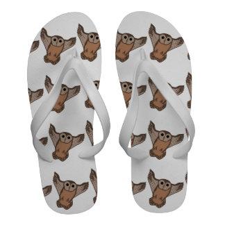 Flip-flops das corujas do vôo