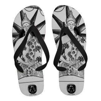 Flip-flops de Buddha pela ARTE