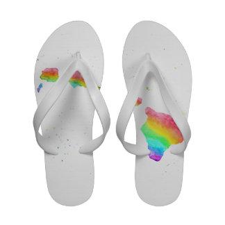 Flip-flops do arco-íris das ilhas havaianas