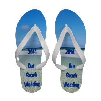 Flip-flops do casamento de praia